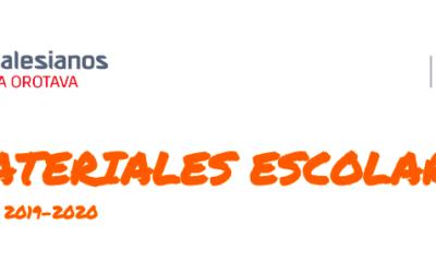 Materiales Escolares Curso 2019-2020